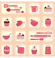 pattern on baking theme vector image vector image