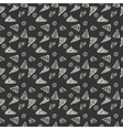 Pattern Pepperoni pizza monochrome vector image
