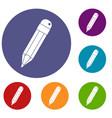 pencil icons set vector image vector image