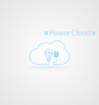 Power cloud logo vector image vector image