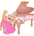 princess playing piano vector image vector image