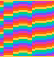 rainbow background retro seamless pattern 50s vector image