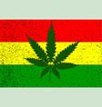 rastafarian flag vector image vector image