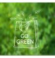 Reusable shopping eco bag vector image vector image