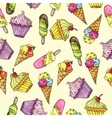 Seamless pattern whith ice cream vector image vector image