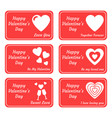 set greeting card for valentines day vector image vector image