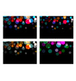 set of bokeh effect backdrop magic christmas vector image vector image