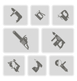 set of monochrome icons with power tools vector image