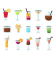 set of popular alcohol cocktails isolated vector image