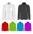 shirt in various colors vector image vector image