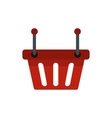 Shopping basket icon flat style vector image