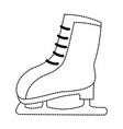 snow skates isolated icon vector image vector image