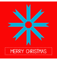 Snowflake made from ribbons Merry Christmas card vector image vector image
