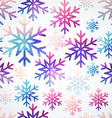snowflakes pattern Abstract snowflake of geometric vector image