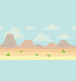 soft nature landscape with blue sky desert vector image vector image
