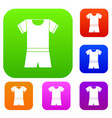 sport shirt and shorts set collection vector image vector image
