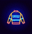 sweater neon sign vector image