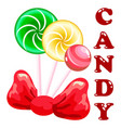 sweet candy set vector image vector image