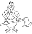 Thanksgiving cartoon vector image vector image