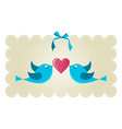 Twitter love couple birds vector image