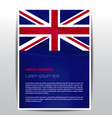 united kingdom flag design vector image