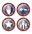usa flag button of vote concept vector image vector image