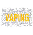 Web line vaping image trend vector image