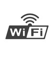 wifi free icon isolated on white background vector image