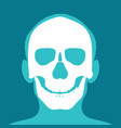 xray head and neck isolated on blue backdround vector image vector image