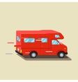 Caravan travel car vehicle trailer house Family vector image