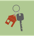 icon key icon from the house flat design style vector image