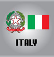official government elements of italy vector image