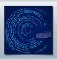 circle brochure business flyer design template vector image