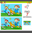 differences game with boys and dogs vector image