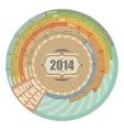 2014 Round Calendar vector image vector image