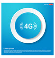 4g connection icon vector image vector image