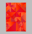 abstract red geometrical triangle flyer vector image vector image