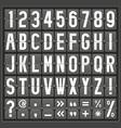 alphabet mechanical panel vector image