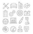 auto service line icons vector image