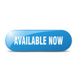 available now button now sign key push vector image vector image