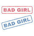 bad girl textile stamps vector image vector image