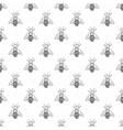 bee hand drawn seamless pattern monochrome vector image