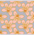 big blossom flowers seamless pattern repeat vector image vector image