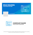 blue business logo template for admin console vector image