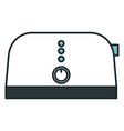 bread toaster isolated icon vector image