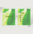 brochure layout template watercolor cover design vector image vector image