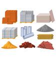 building materials construction industry bricks vector image vector image