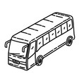 bus icon doodle hand drawn or outline icon style vector image vector image