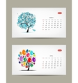 calendar 2015 march and april months Art vector image