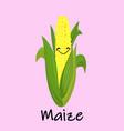 cartoon golden corn natural maize icon flat of vector image vector image